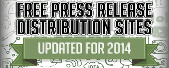 Free High PR Press Release Submission Sites List